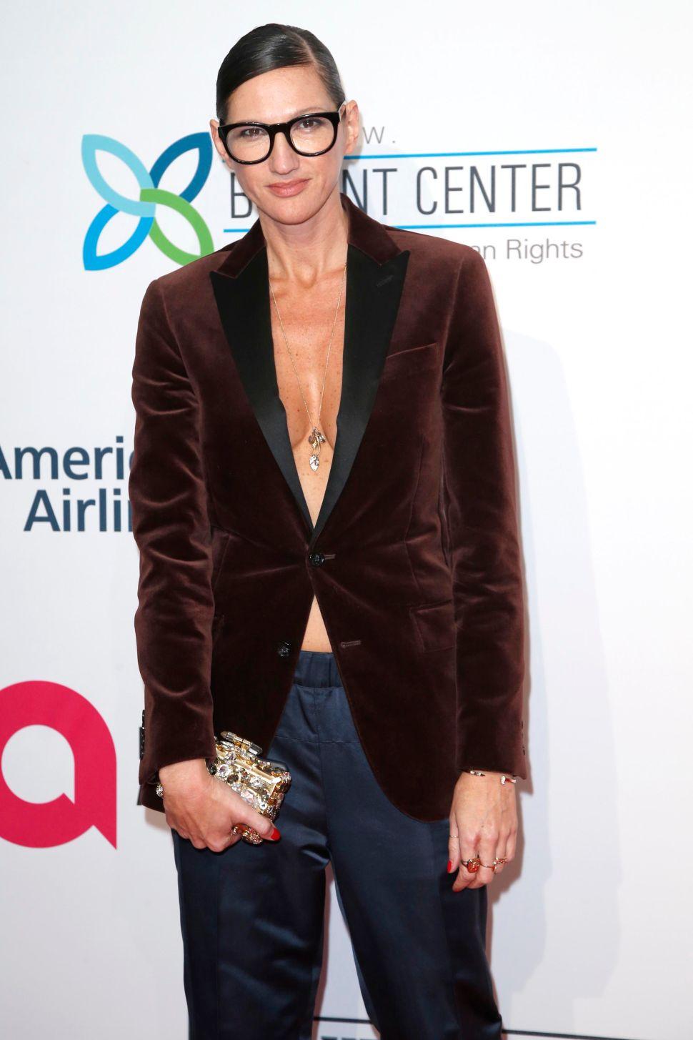 Jenna Lyons Turns a Men's J. Crew Blazer Into Sexy Eveningwear