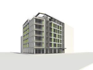 A rendering of 840 Fulton Street.