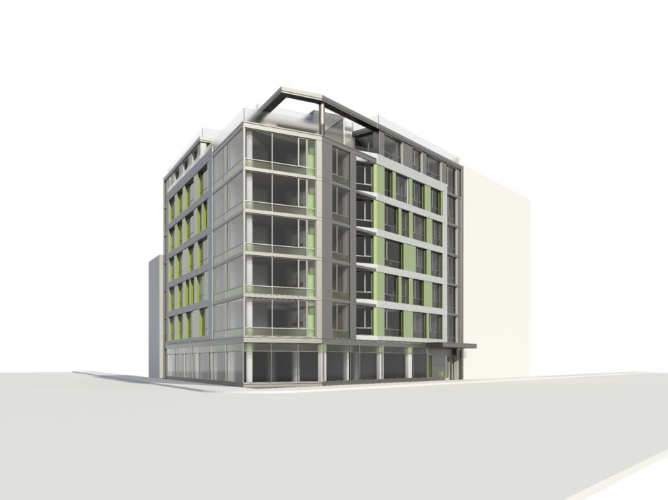 On the Site of Vacant Clinton Hill Gas Station, 7-Story Residential Tower to Rise