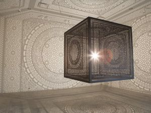Anila Quayyum Agha's Intersections is on view at the Grand Rapids Art Museum. (Photo courtesy ArtPrize.org)