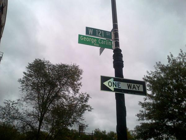 Morningside Heights Named a Street after George Carlin