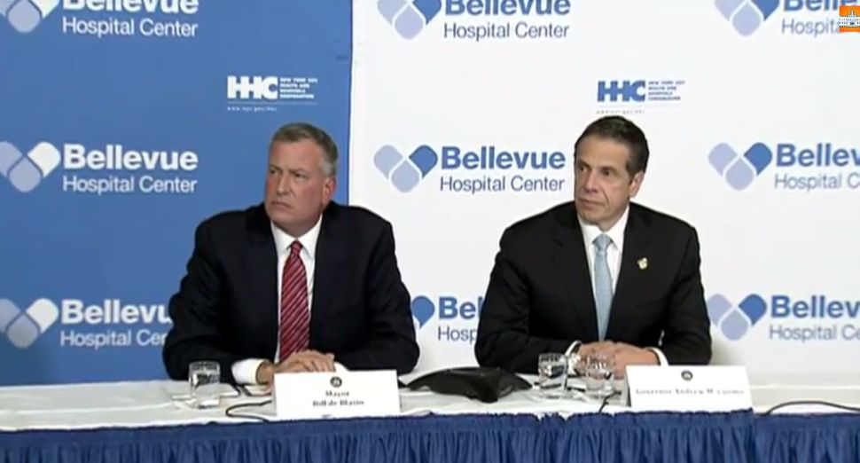 Bill de Blasio and Andrew Cuomo Try to Calm New Yorkers as Ebola Hits the City