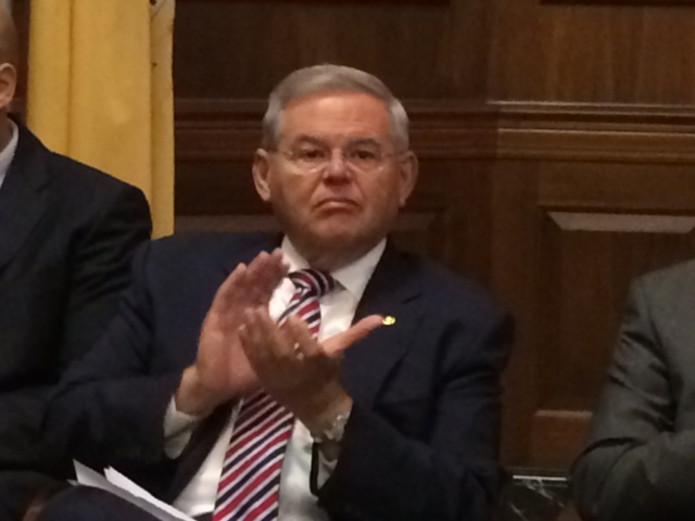 Menendez 'looks forward' to debate on White House's war draft