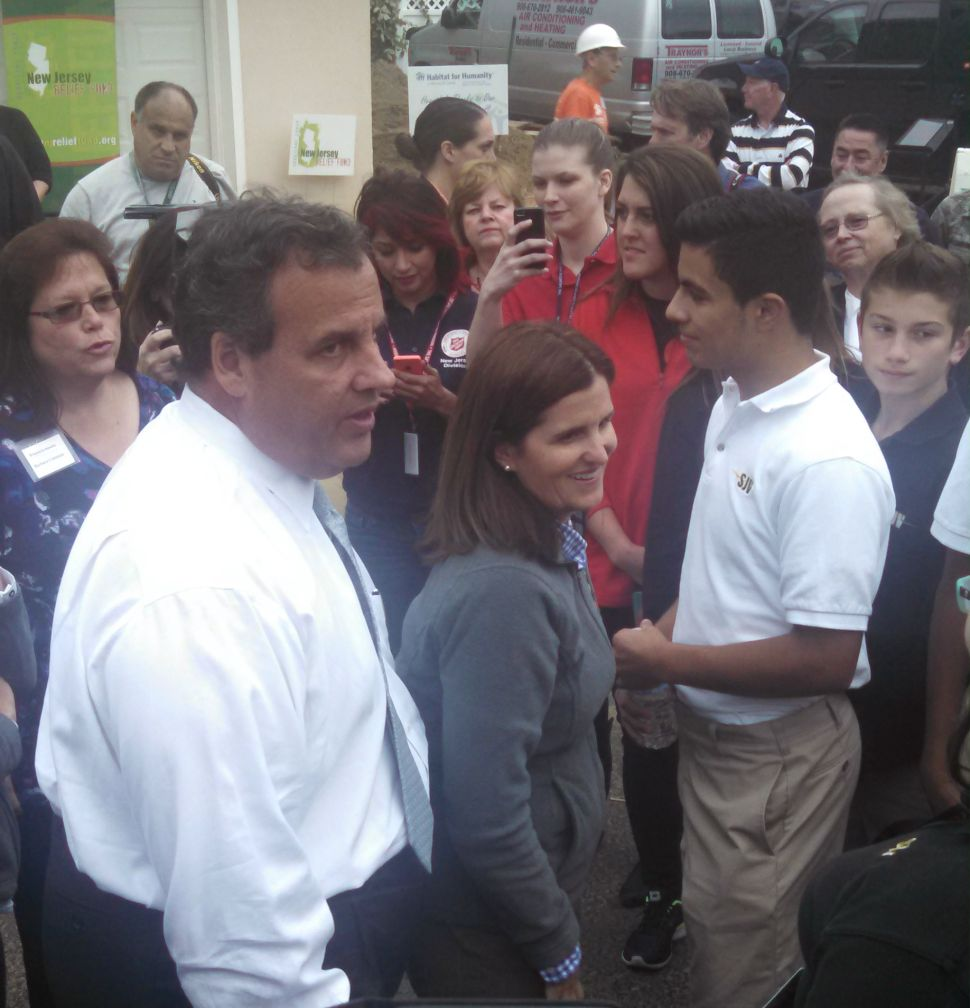 For Christie, Sandy volunteers are 'God's instruments'