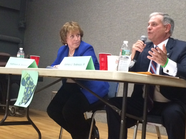Bergen County Exec's race: Tested on the issues, Donovan, Tedesco get testy at first debate