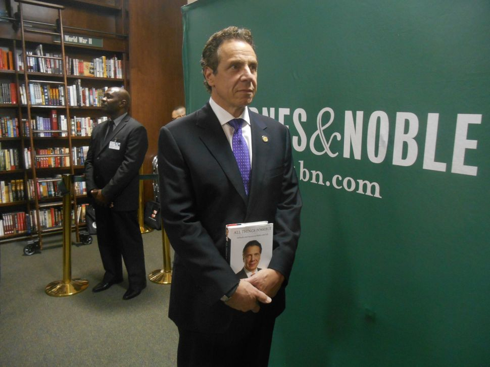 Few Die-Hard Fans Turn Out for Andrew Cuomo's Book Signing