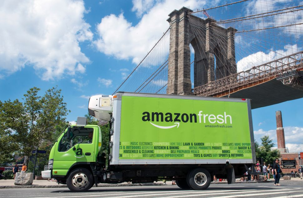 Amazon Pilots Grocery Delivery Service in Park Slope