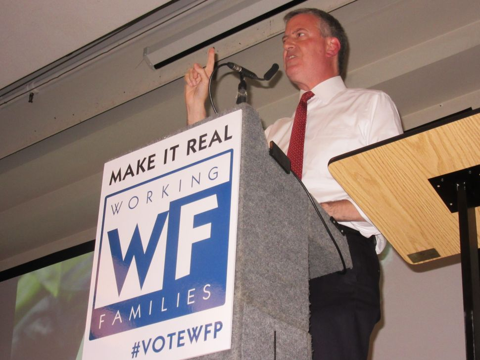 De Blasio Disputes WFP Leader's Attack on Cuomo