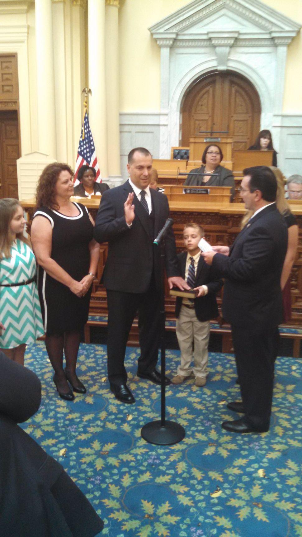 Danielsen sworn in as new LD17 assemblyman
