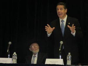 Gov. Andrew Cuomo addresses religious Jewish leaders (Photo: Will Bredderman).