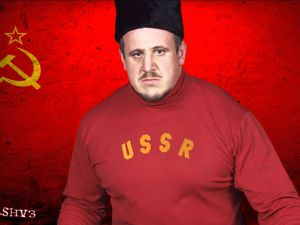 The pro wrestler Nikolai Volkoff was depicted teaming with the Iran-loving Iron Sheik and spitting on an American flag (Photo: WWE)