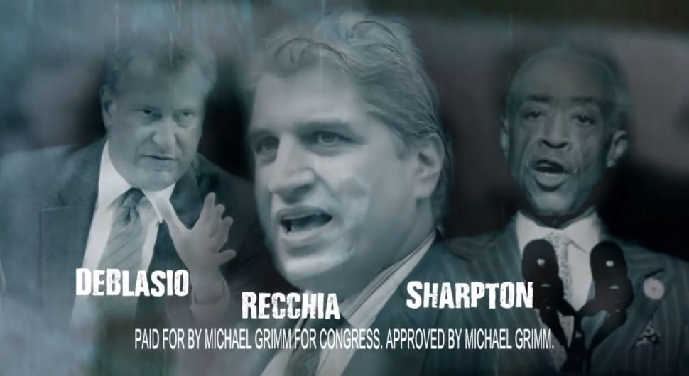 New Grimm Ad Attacks de Blasio-Sharpton-Recchia 'Liberal Dream Team'