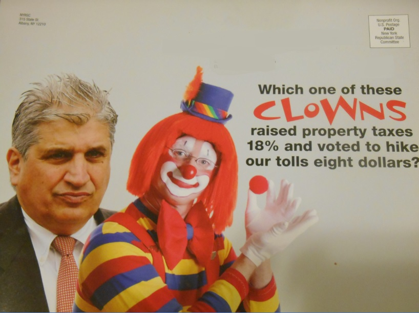 Domenic Recchia Portrayed as Circus Clown in Republican Mailer