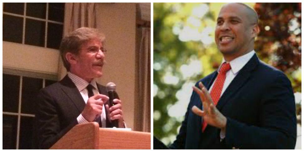 U.S. Senate race: Geraldo Rivera, Booker clash