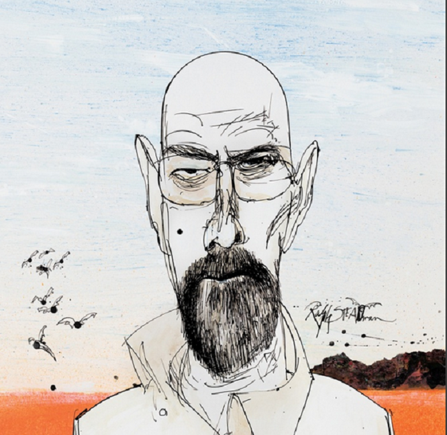 Ralph Steadman Designed Some Badass 'Breaking Bad' Blu-Ray Covers