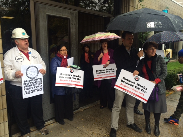 Rutgers union rally calls for fair contract negotiations, focus on academics
