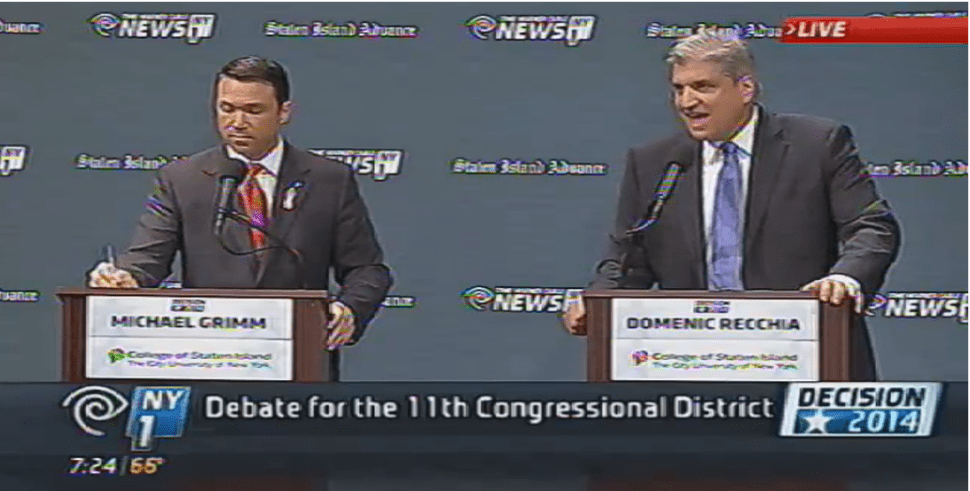 Recchia and Grimm Clash in Final Debate Before Election