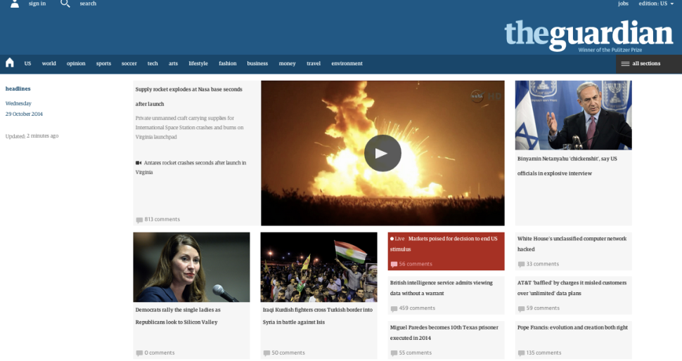 The Guardian Launches Redesigned Site