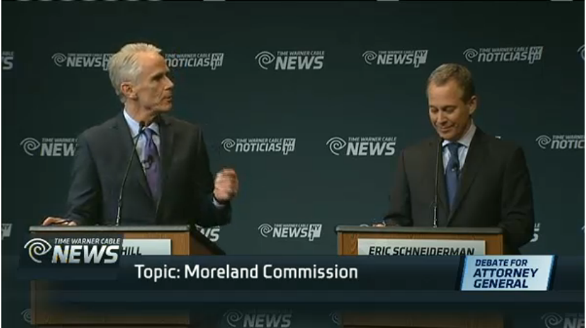 Schneiderman and Cahill Square Off in Heated Attorney General Debate