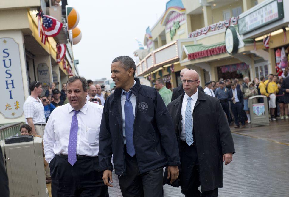 Obama in Newark v. Christie in Camden