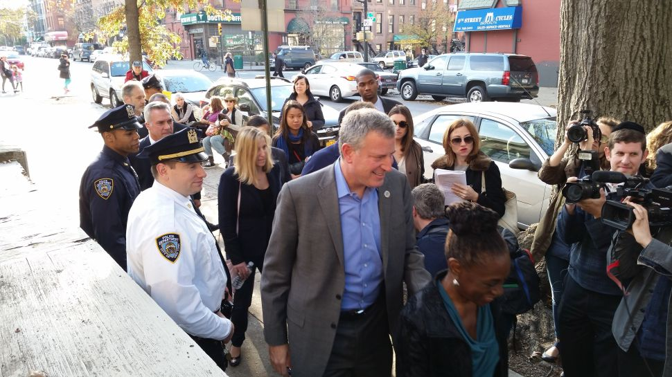 Bill de Blasio Says He Voted Against Proposition 1