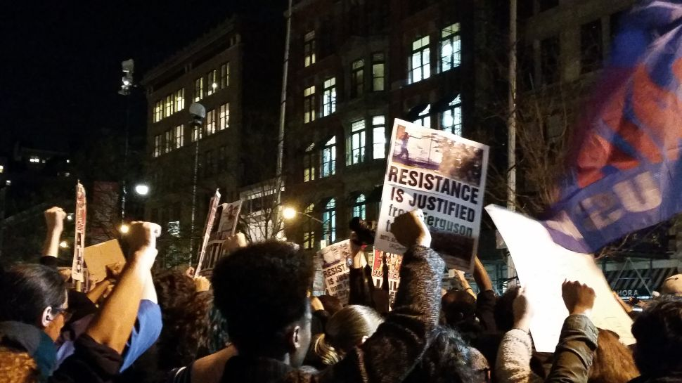 New Yorkers React to Ferguson Results in Citywide Protest