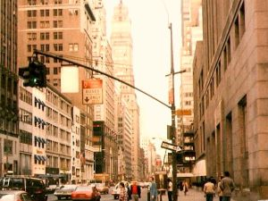 57th Street in the 1970s, in a very different New York. (Shilpot/flickr.)