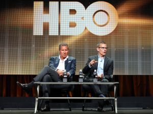 HBO Chairman & CEO Richard Plepler with HBO Programming President Michael Lombardo (Photo by Frederick M. Brown/Getty Images)