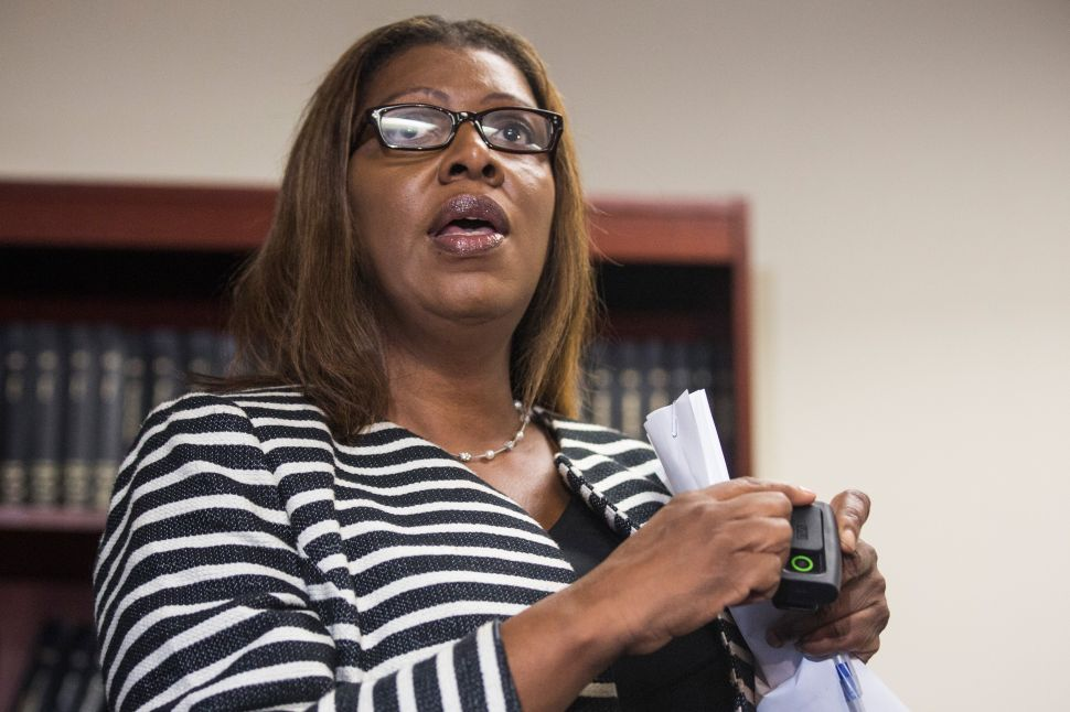 Public Advocate Letitia James Hit With $5,705 Penalty Over 2013 Campaign