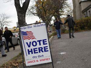 Voters in Detroit, Michigan in 2014.