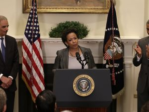 US Attorney Loretta Lynch speaks after President Obama introduced her as his nominee to replace Attorney General Eric Holder. (Photo by Win McNamee/Getty Images)