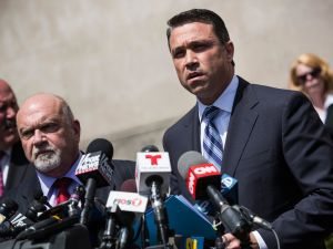 U.S. Representative Michael Grimm (R-NY, 11th District) has been known to make his points rather forcefully. (Photo by Andrew Burton/Getty Images)