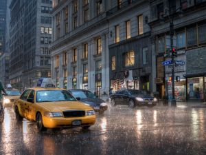 A Princeton economist theorizes why you can't find a cab in the rain (samchills/Flickr)