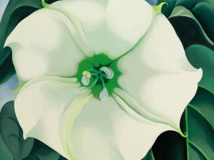 Georgia O'Keeffe, Jimson Weed/White Flower No. 1 (1932). Estimate $10/15 million, Sold for $44,405,000 at Sotheby's American Art sale on November 20, 2014. (Sotheby's New York)