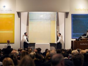 """A Diebenkorn up for bidding at Sotheby's """"Masterworks from the Collection of Mrs. Paul Mellon"""" sale on Monday, November 10, 2014. (Courtesy Sotheby's)"""