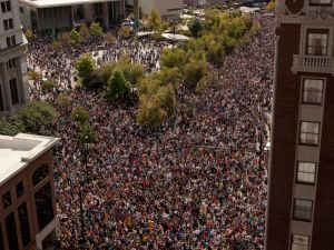 The massive crowds at ArtPrize in Grand Rapids. (Photo courtesy ArtPrize)