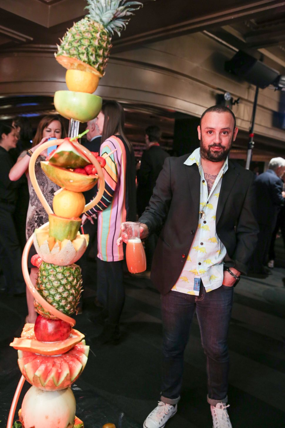 About That Rum Punch-Spewing Sculpture Made of Fruit at the SculptureCenter Gala