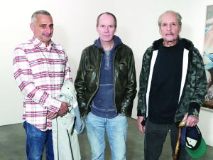 Larry Clark, Richard Prince, Christopher Wool (Photo courtesy Billy Farrell)
