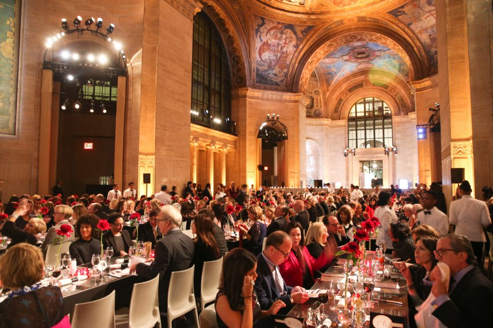 Anthony Haden-Guest at the ICI Gala, in the Imperial Splendor of the Cunard Building
