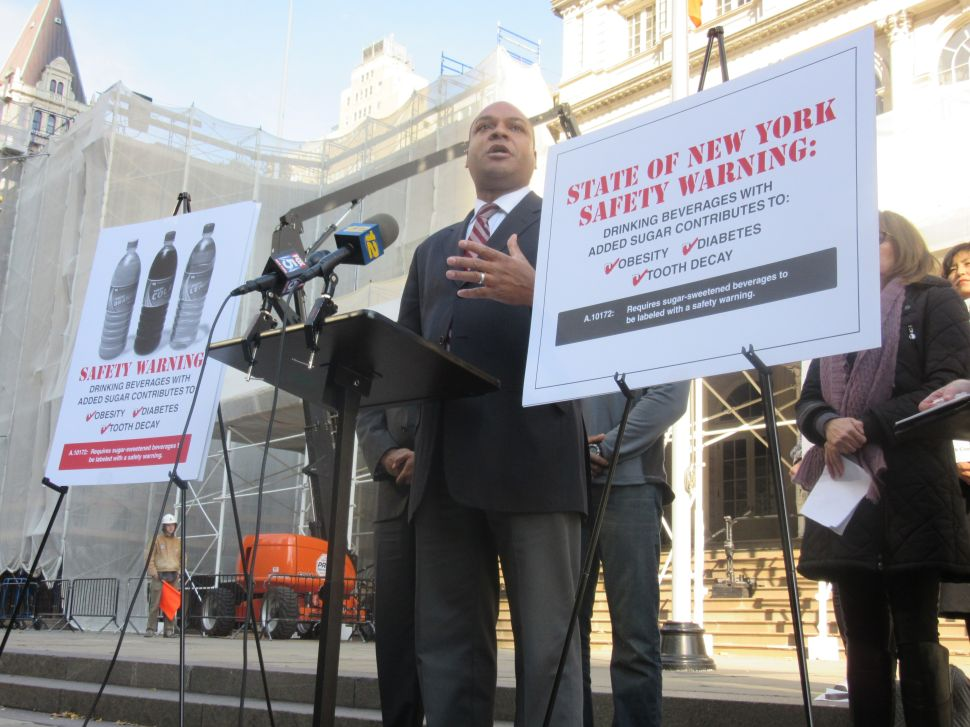 Assemblyman Wants to Slap Warning Labels on Soda