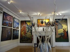 Interior of the little-known Nicholas Roerich Museum on West 107th Street.