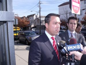 Congressman Michael Grimm this morning after voting.