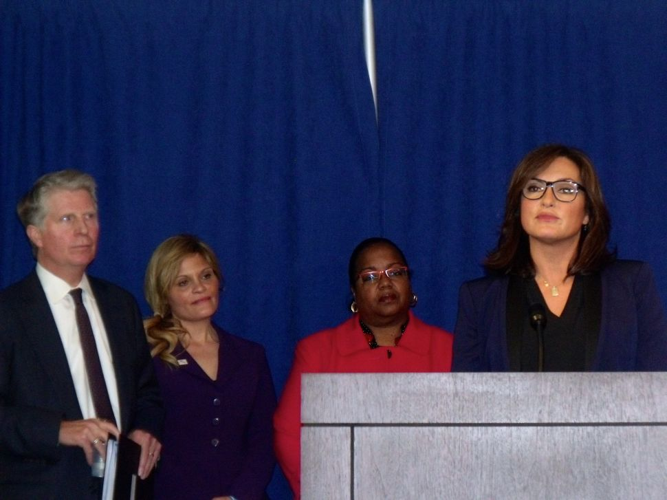 Cyrus Vance and Mariska Hargitay Announce $35 Million to Test Rape Kits Nationwide
