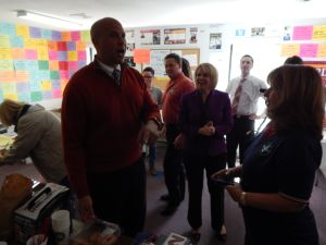 Booker and Belgard in the candidate's Willingboro campaign office.
