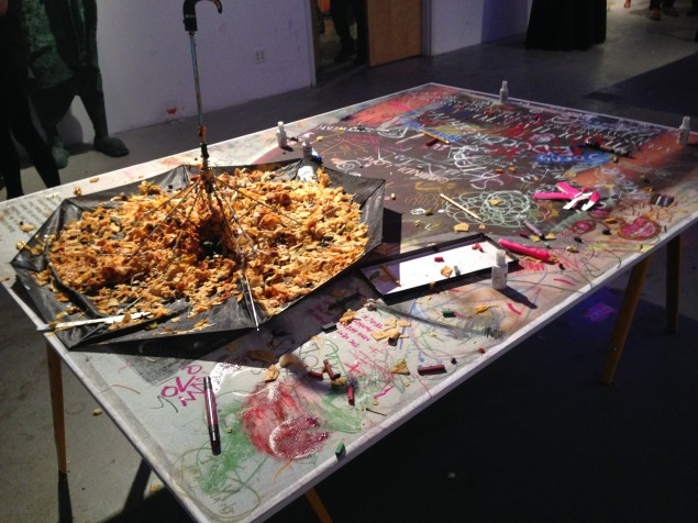 Bruce High Quality Foundation Serves Up Umbrella Nachos for Its Free Art School