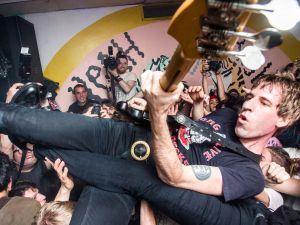 Crowdsurfing at Death by Audio.