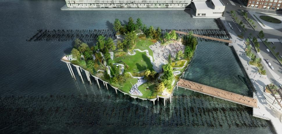 On the Market: Barry Diller's $170M Floating Park on the Hudson