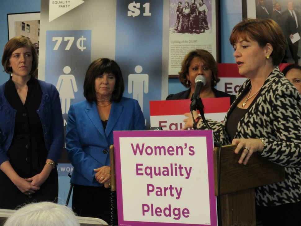 Christine Quinn Celebrates the Rise of the Women's Equality Party