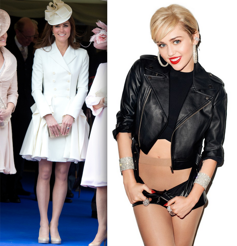 What Do Miley Cyrus and Kate Middleton Have in Common? Nude Tights
