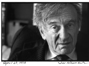 Elie Wiesel will speak this Monday, Nov. 17, at an event organized in response to Mahmoud Abbas's speech at Cooper Union last month. (Photograph by Jill Krementz, April 29, 1998)